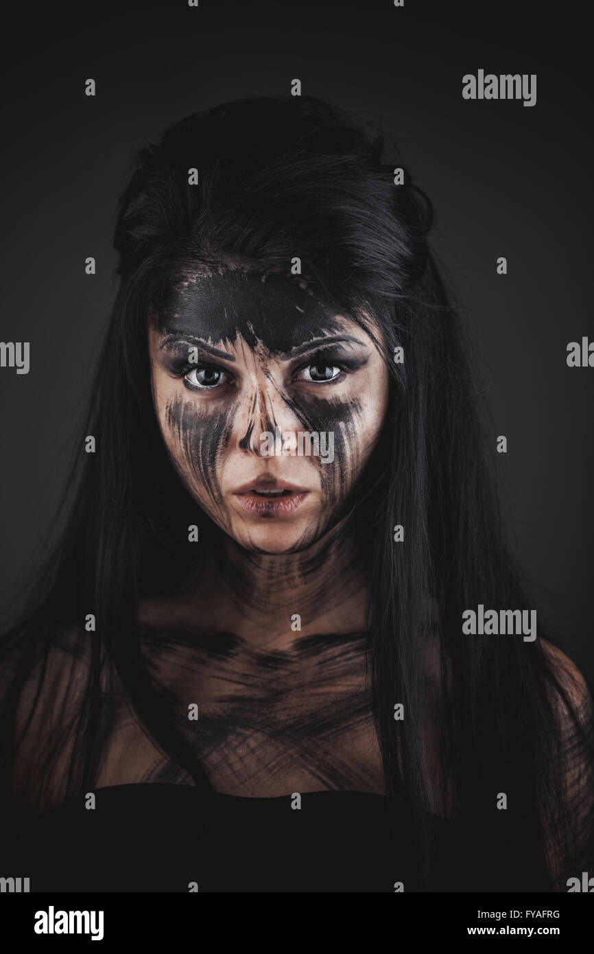 Agly terrible make-up - Stock Image