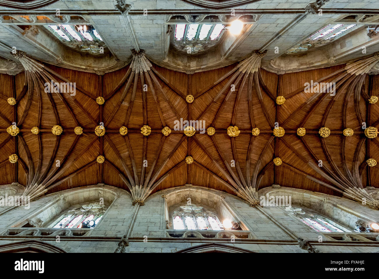 Ceiling of Selby Abbey - Stock Image