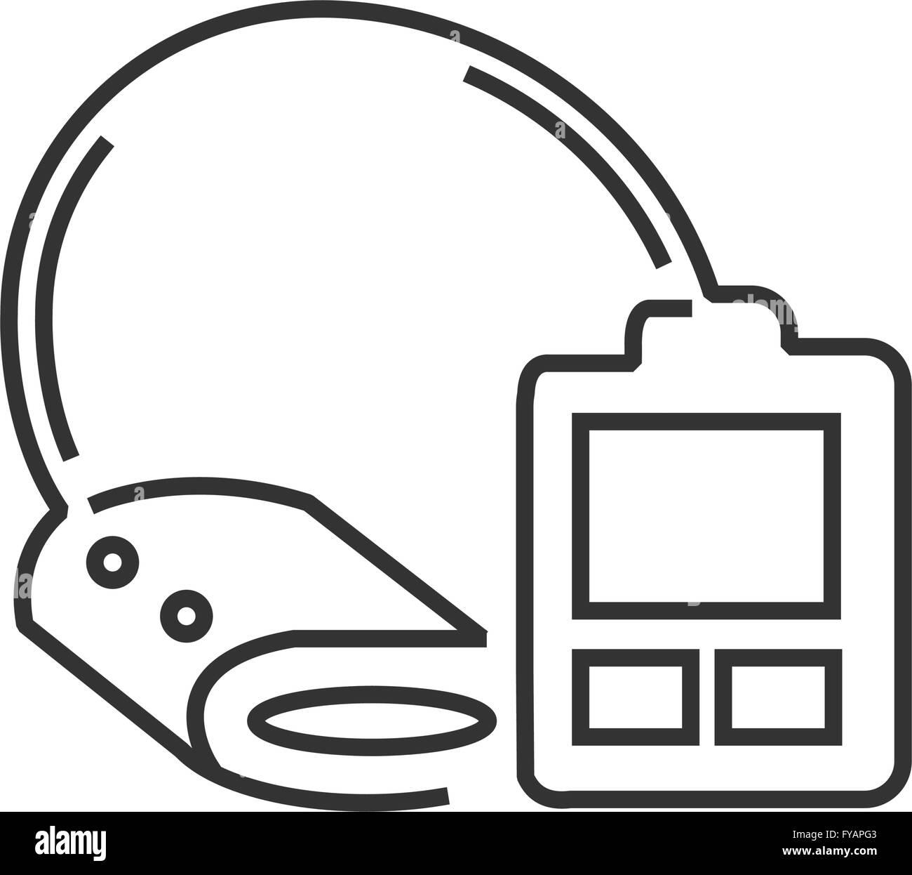 Medical Device Icon, Check pressure line icon - Stock Image