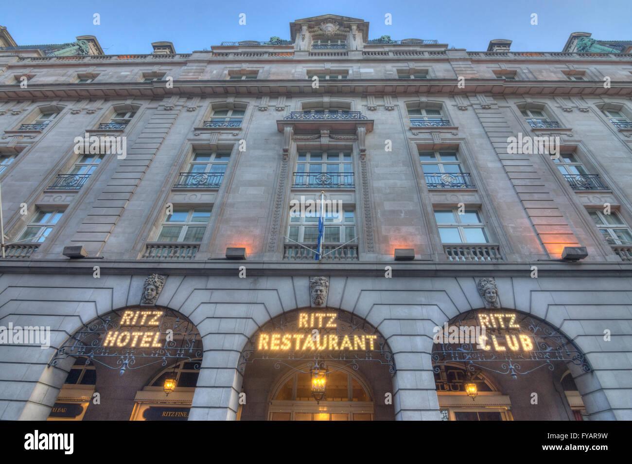 Ritz Hotel  London.  5 star hotel - Stock Image