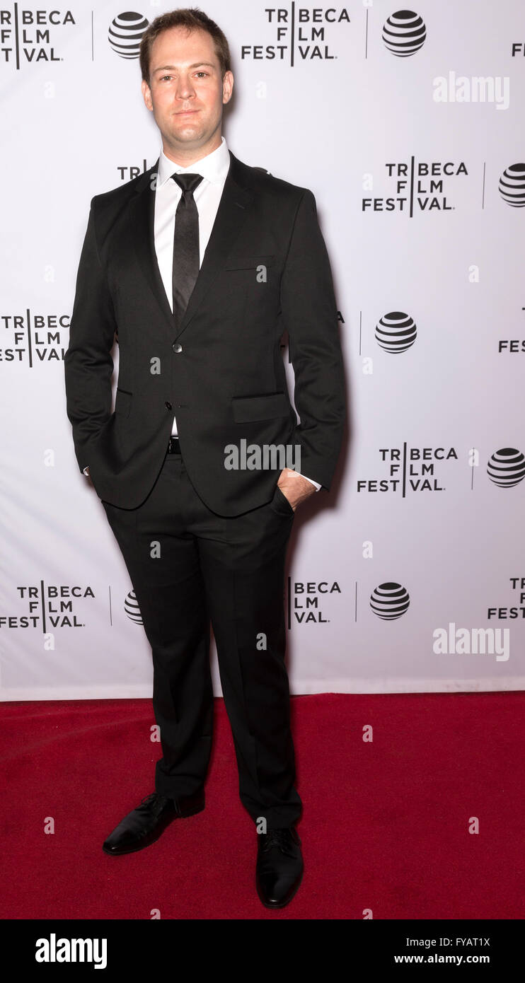 New York City, USA - April 24, 2016: Will Turner attends the Almost Paris premiere during the 2016 Tribeca Film - Stock Image