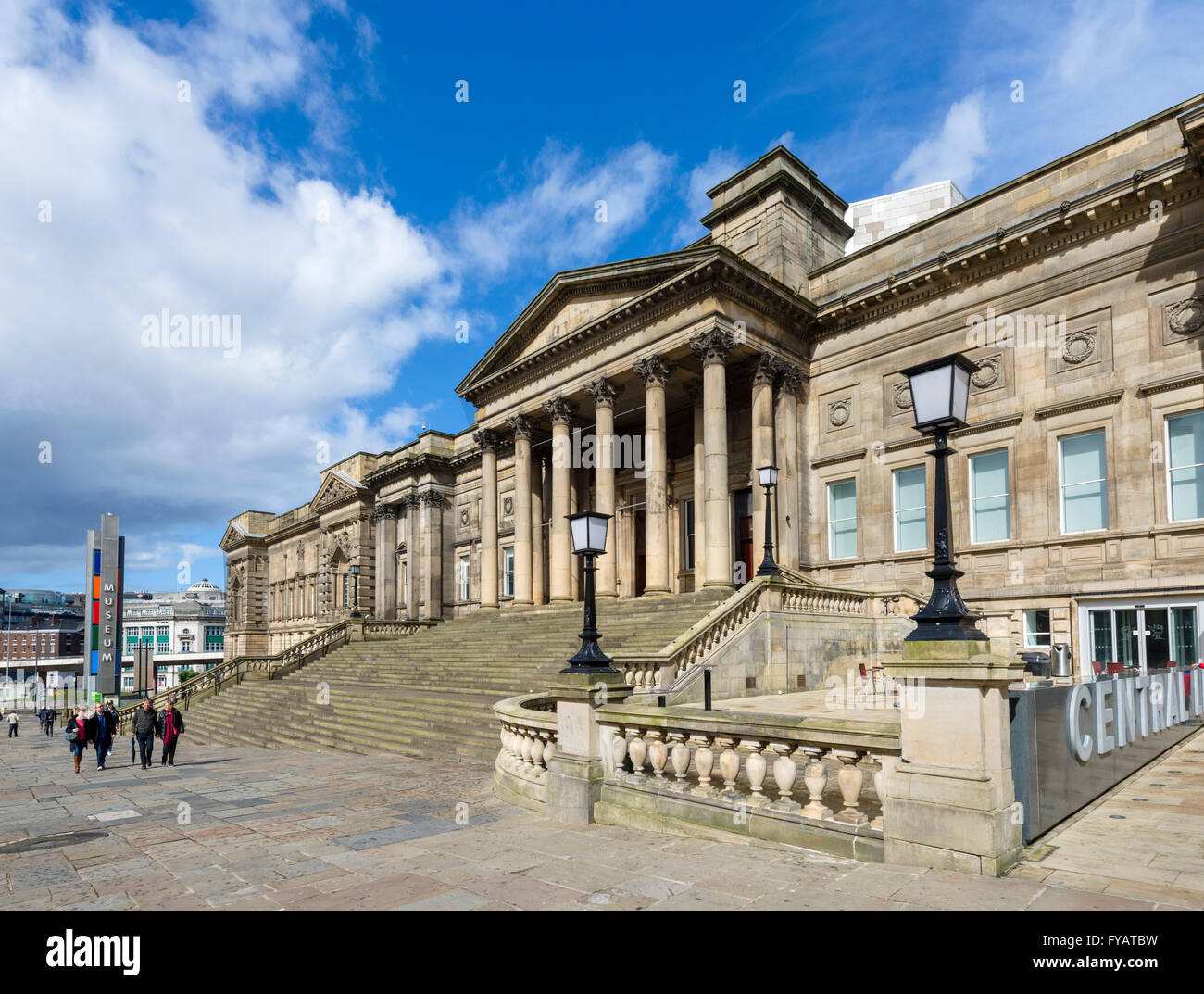 The Central Library and World Museum, William Brown Street, Liverpool, England, UK - Stock Image
