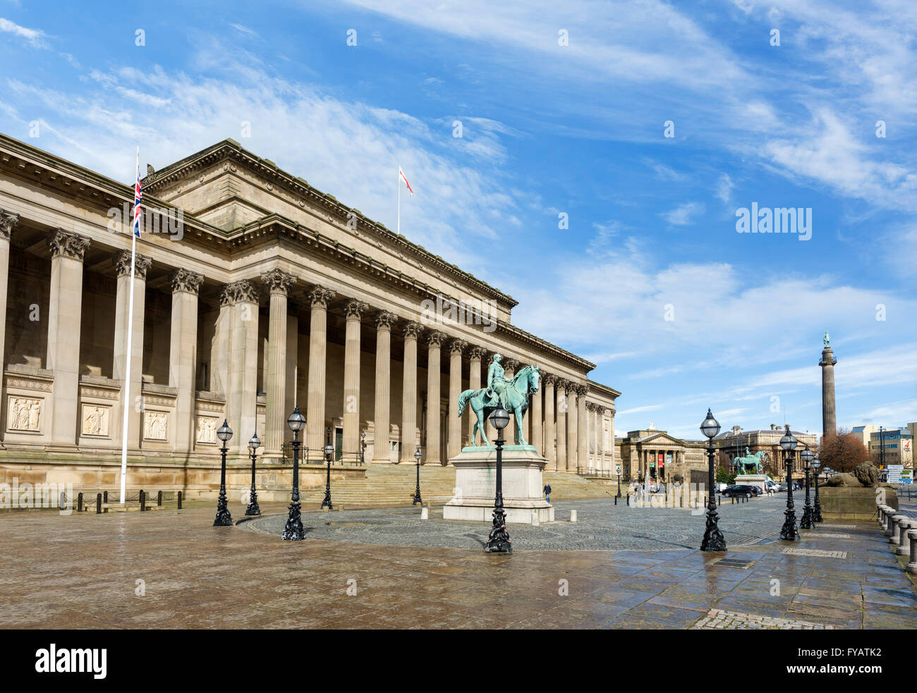St George's Hall, Lime Street, Liverpool, Merseyside, England, UK - Stock Image