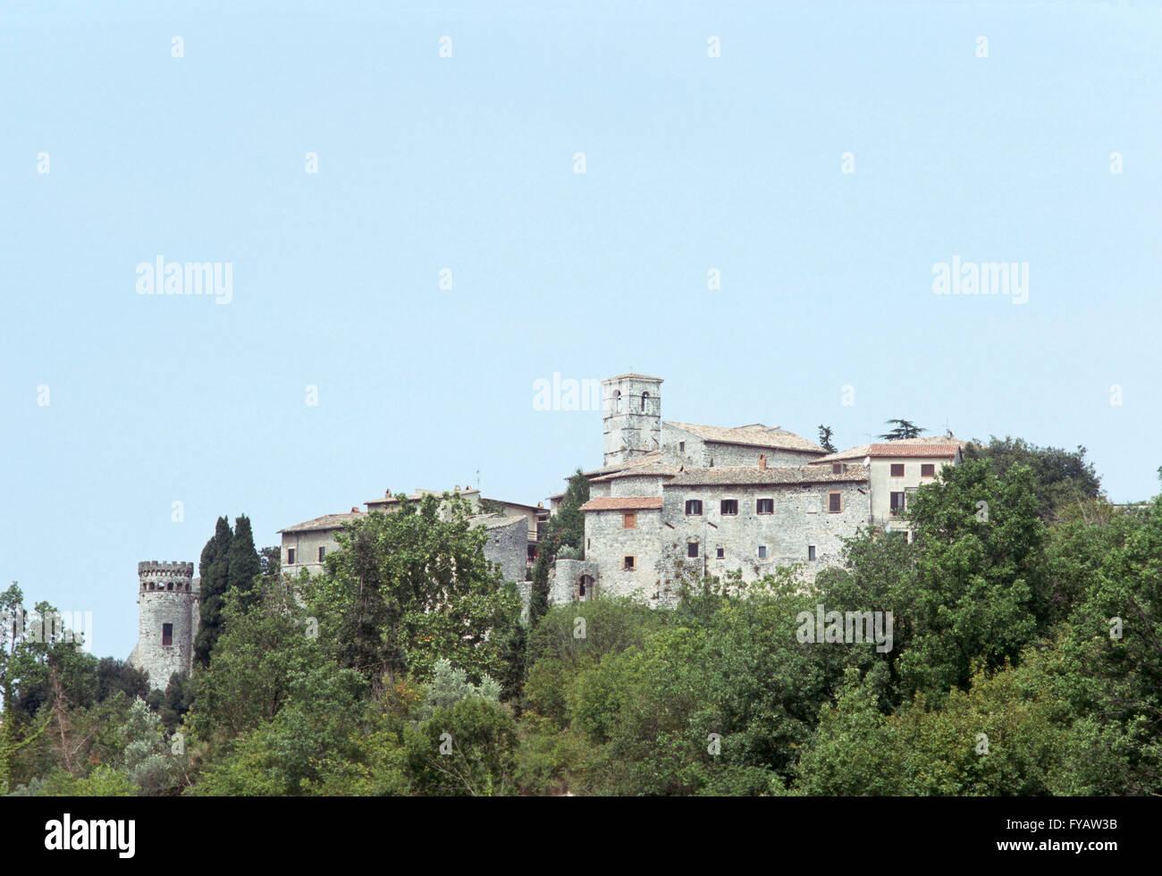 Panorama of Labro in the Italian province of Rieti Lazio - Stock Image
