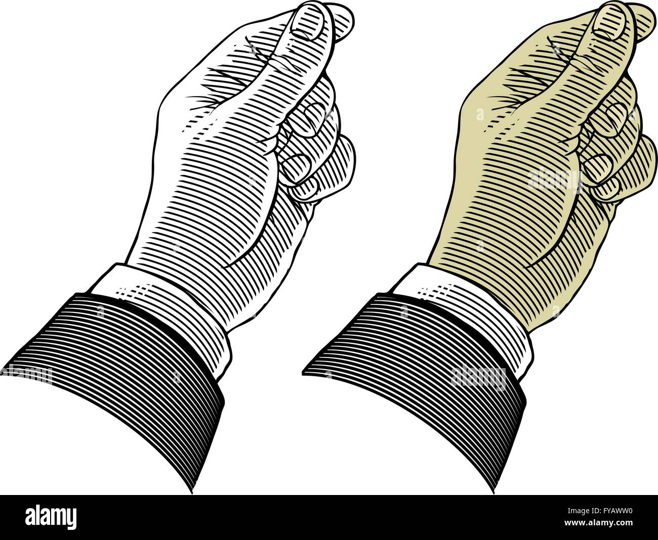 Hand giving or take something - Stock Vector