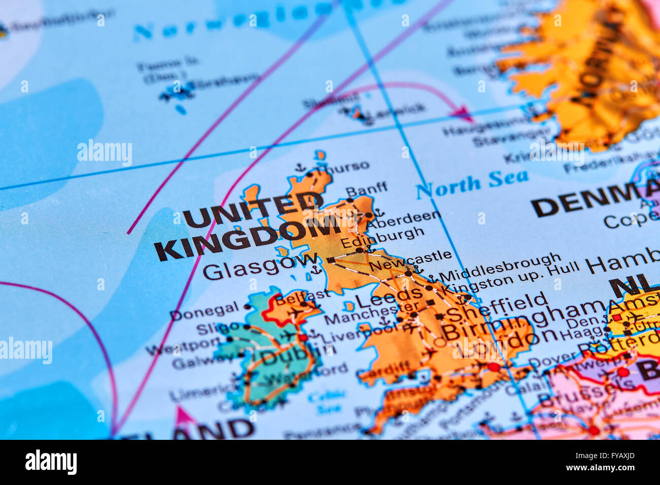 United Kingdom On The World Map.United Kingdom In Europe On The World Map Stock Photo 102887973 Alamy