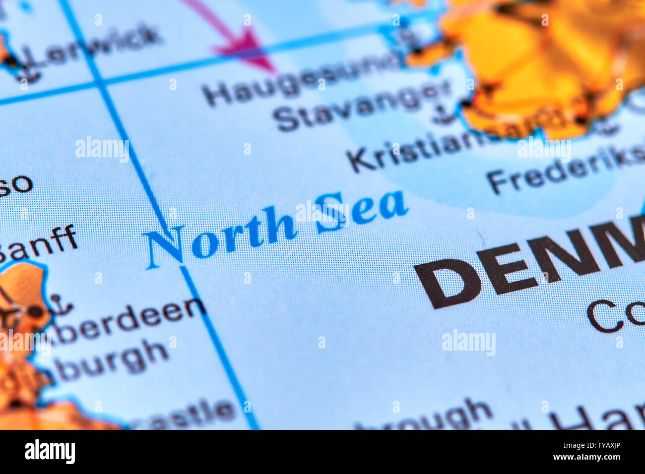 North Sea Europe Map.The North Sea Europe On The World Map Stock Photo 102887982 Alamy