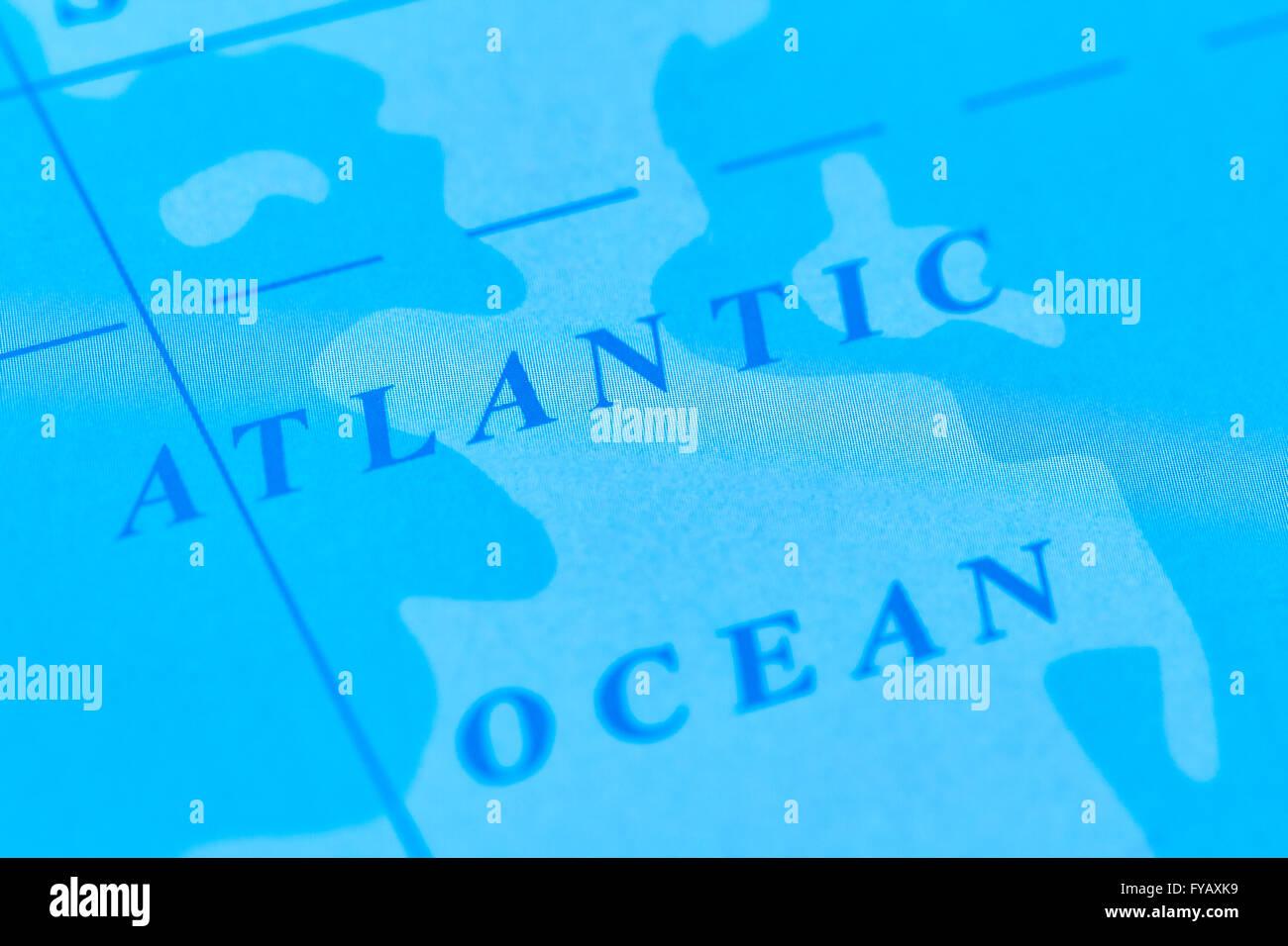 Atlantic ocean map stock photos atlantic ocean map stock images atlantic ocean on the world map stock image gumiabroncs Choice Image