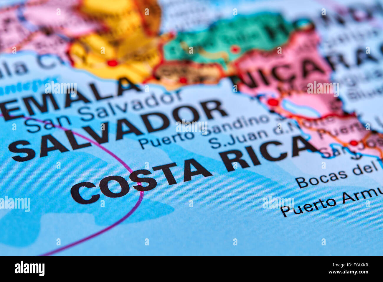 Costa rica country in central america on the world map stock photo costa rica country in central america on the world map gumiabroncs Images