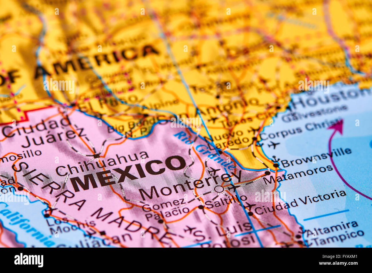 Altamira Mexico Map.Mexico Country In Central America On The World Map Stock Photo
