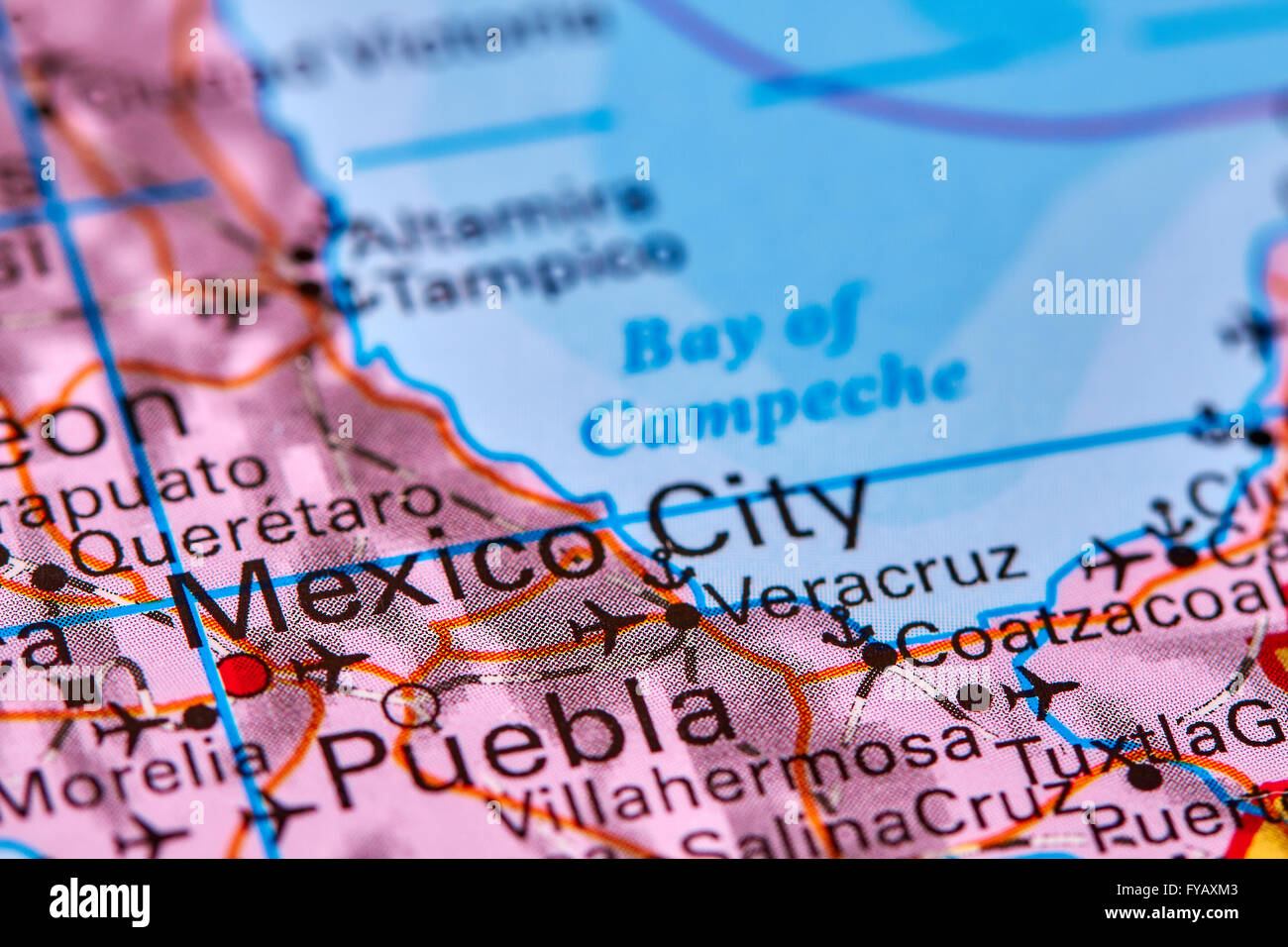 mexico city capital of mexico on the world map stock image