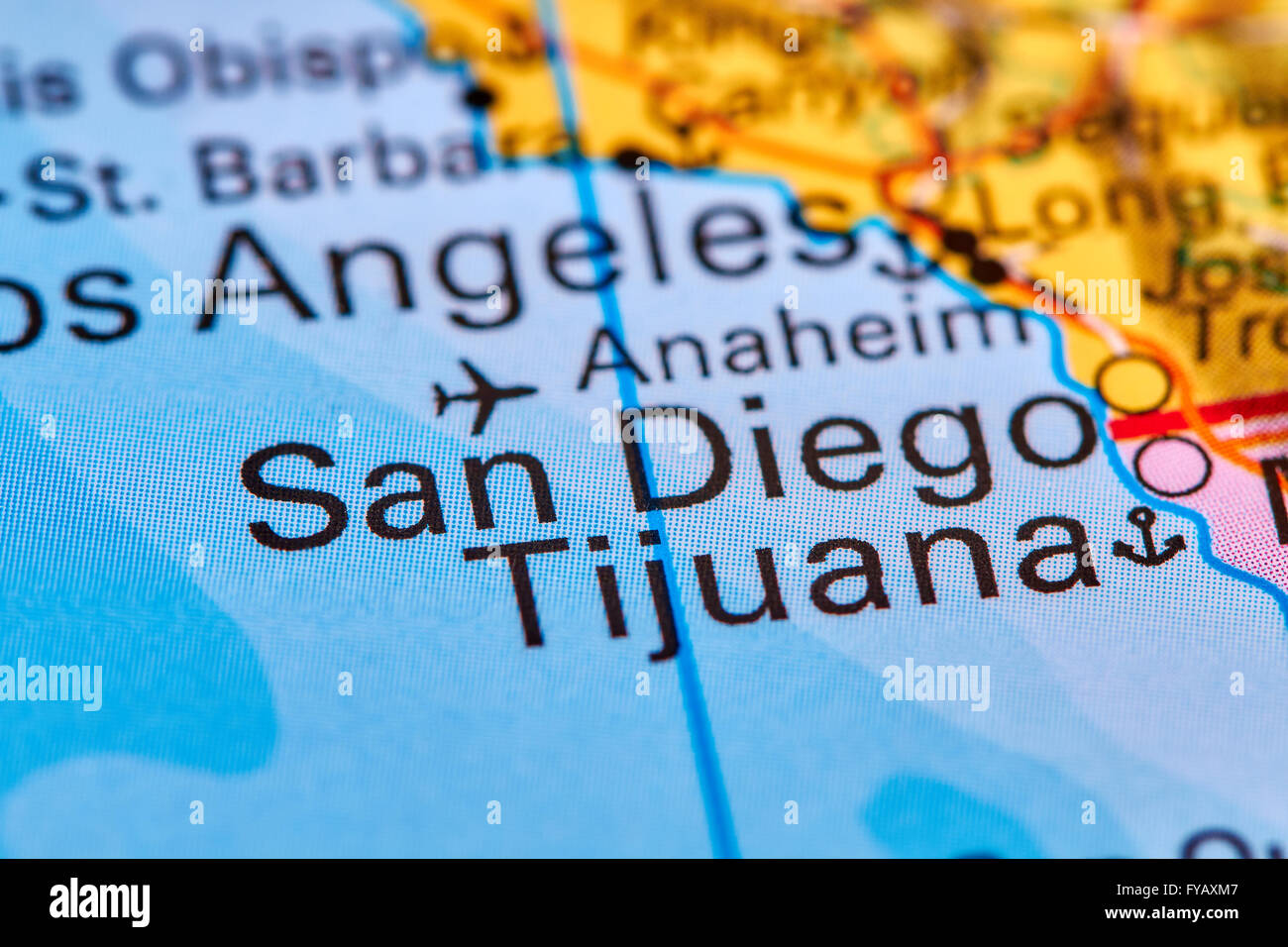 San Diego, City in USA on the World Map Stock Photo: 102888023 - Alamy