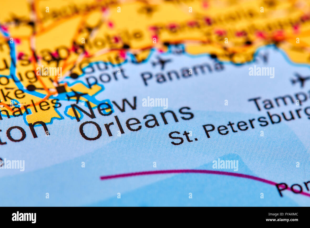 New Orleans In Usa Map.New Orleans City In Usa On The World Map Stock Photo 102888028 Alamy