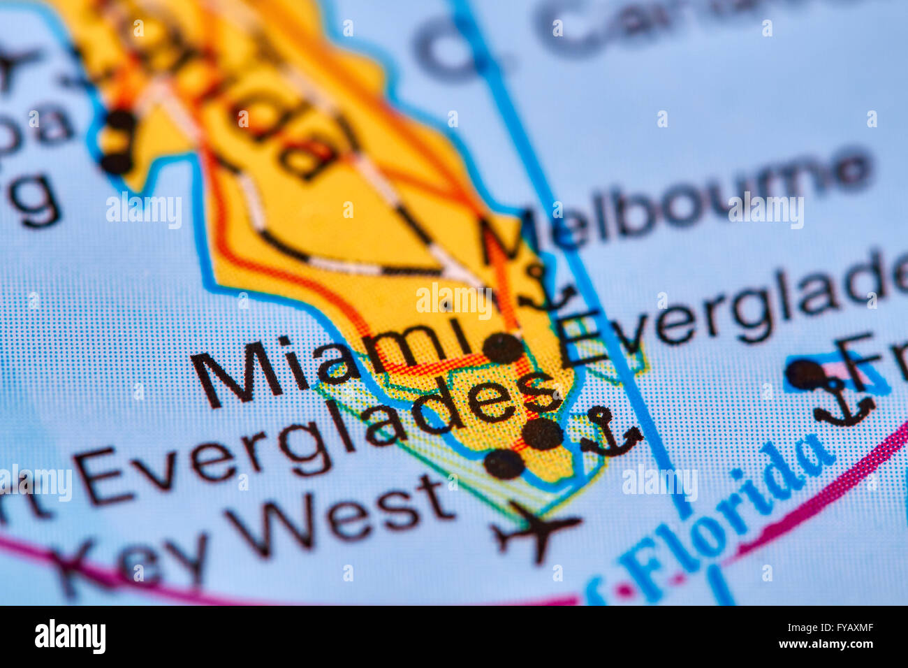 Miami City in USA on the World Map Stock Photo 102888031 Alamy