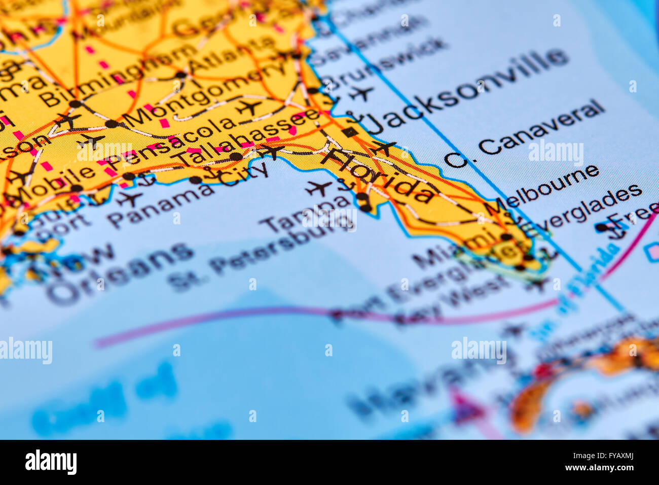 Florida On The World Map.Florida State In Usa On The World Map Stock Photo 102888034 Alamy