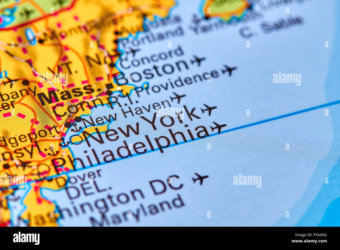 New York City In Usa On The World Map Stock Photo 102888046 Alamy