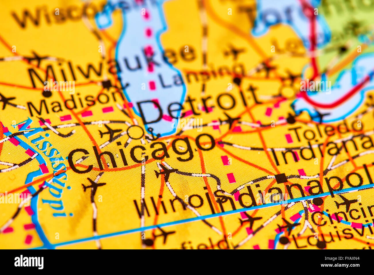 City Map Of Chicago Stock Photos & City Map Of Chicago Stock Images ...