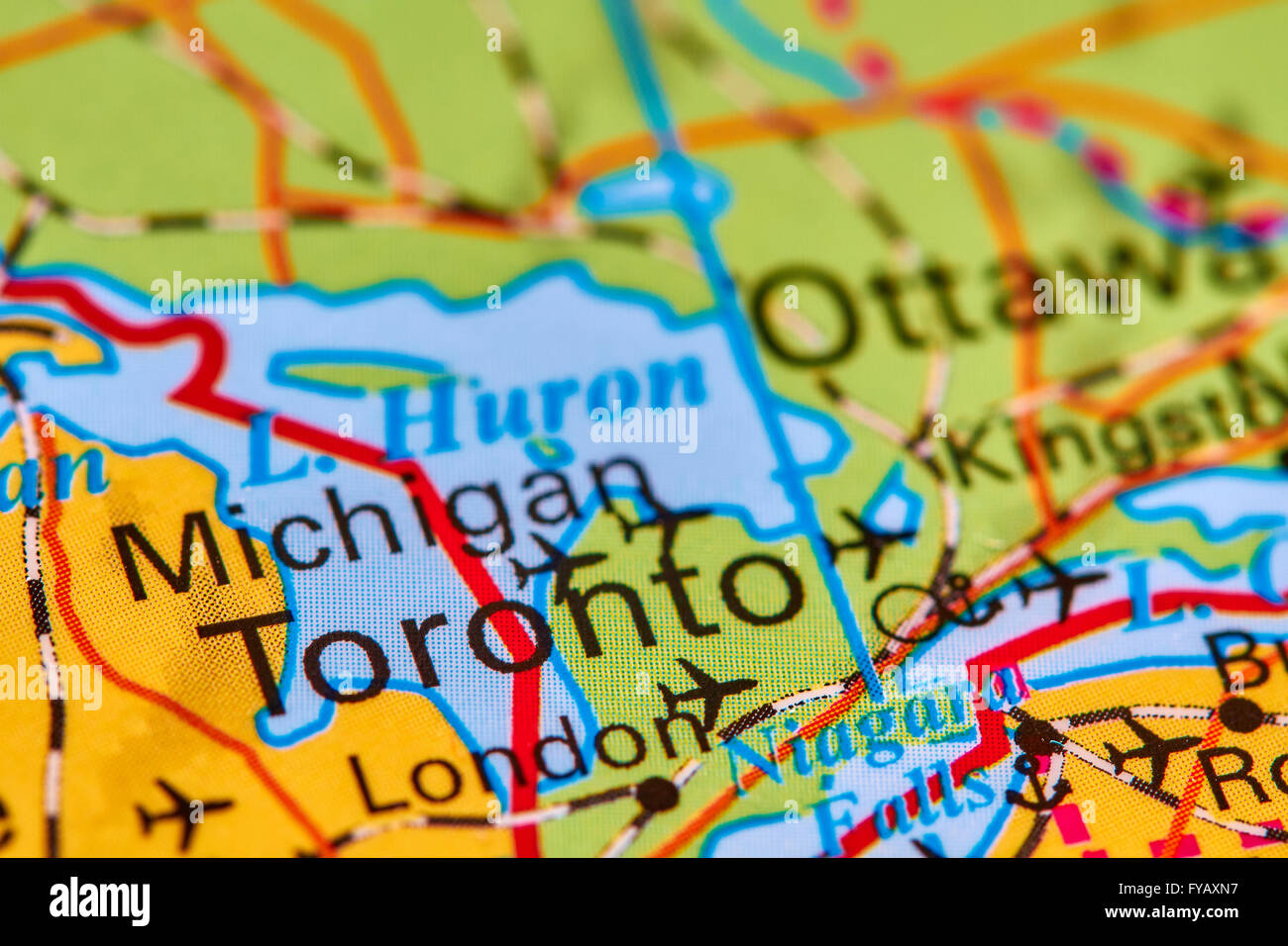 Toronto Canada World Map.Toronto City In Canada On The World Map Stock Photo 102888051 Alamy
