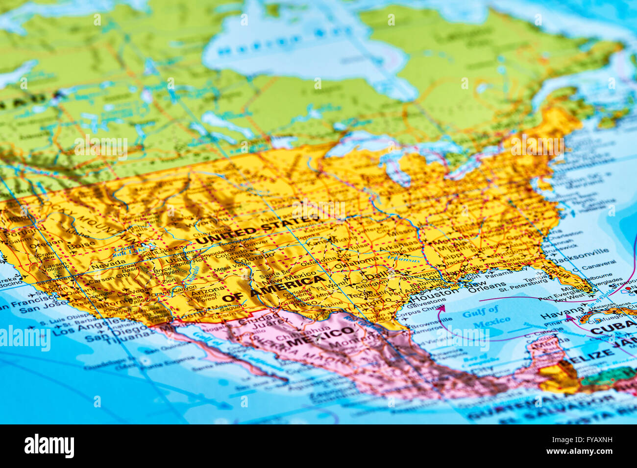 United States of America on the World Map Stock Photo: 102888061 - Alamy
