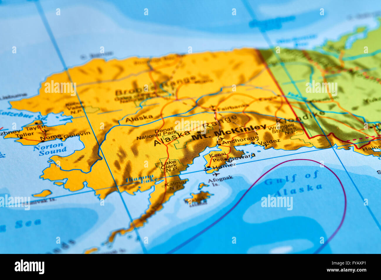 Map of north america and alaska stock photos map of north america alaska state in usa on the world map stock image gumiabroncs Image collections