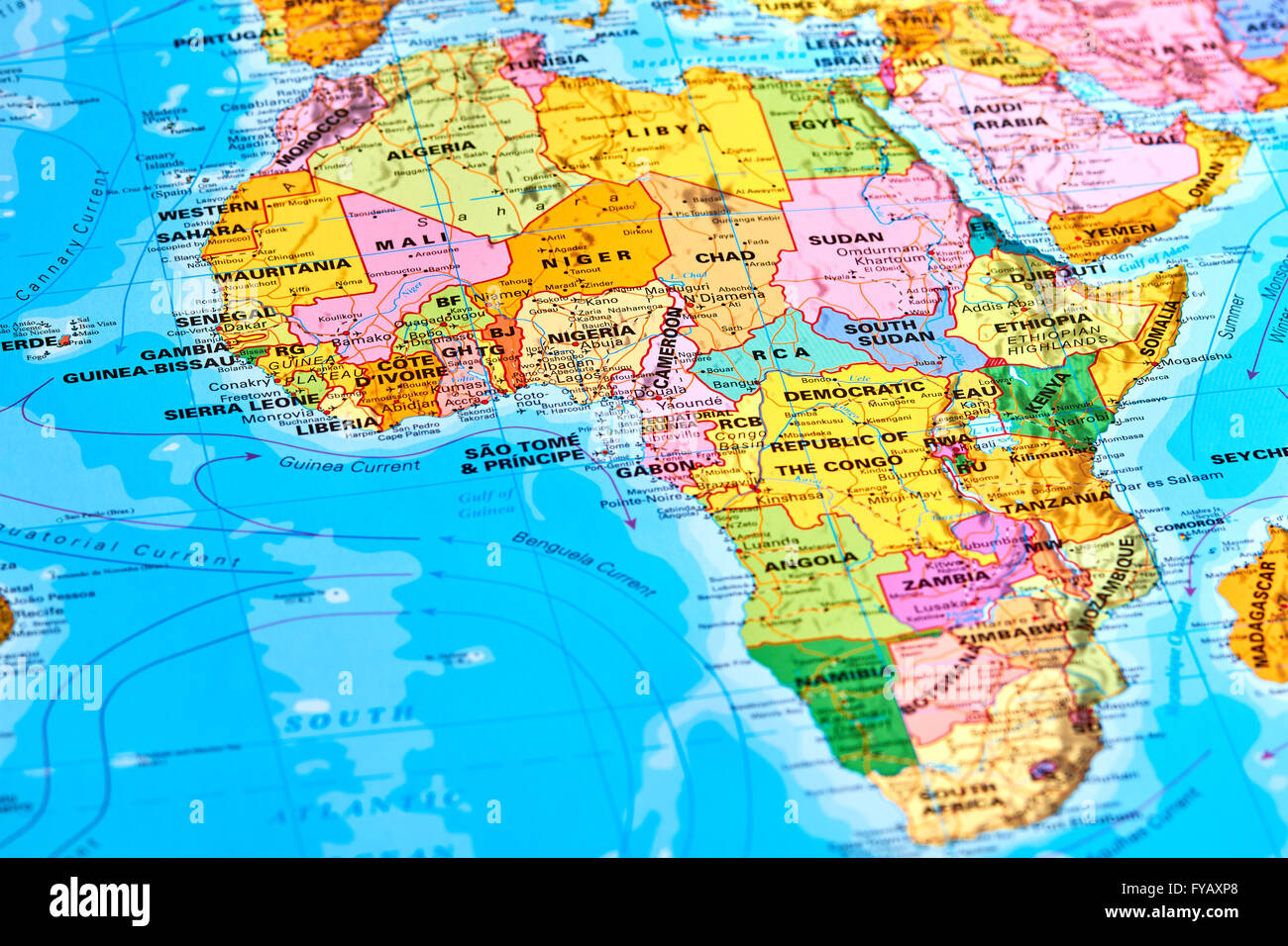 Africa map stock photos africa map stock images alamy africa oldest continent on the world map stock image gumiabroncs Image collections