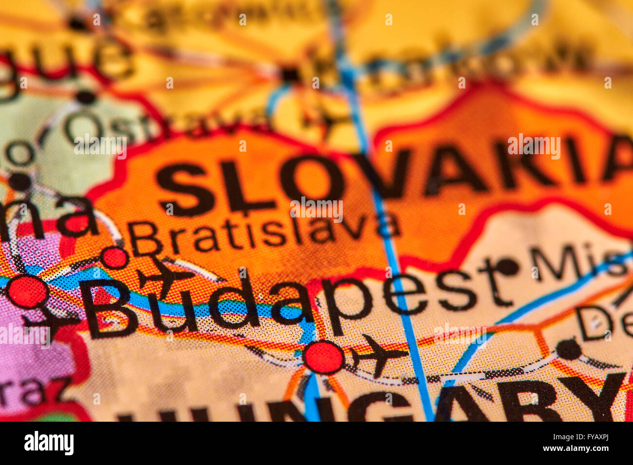 Budapest capital city of hungary on the world map stock photo budapest capital city of hungary on the world map gumiabroncs Image collections