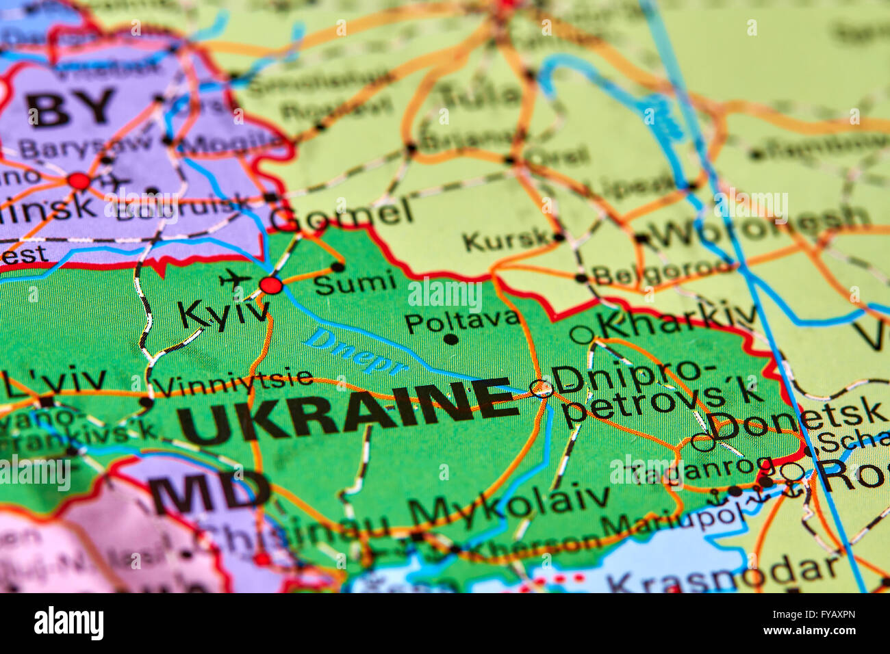 Ukraine Europe Map Stock Photos Ukraine Europe Map Stock Images