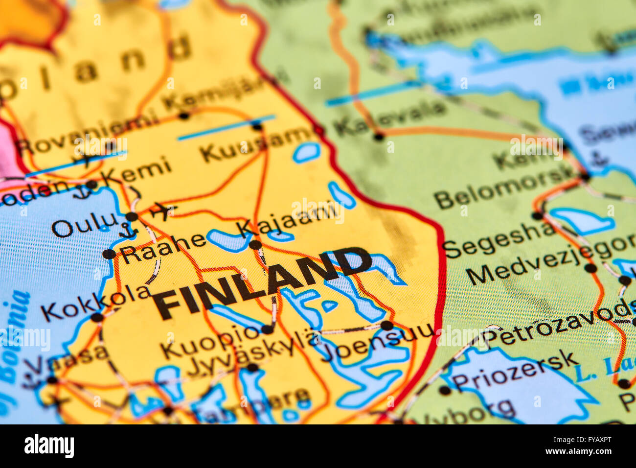 Finland country in europe on the world map stock photo 102888096 finland country in europe on the world map gumiabroncs Image collections