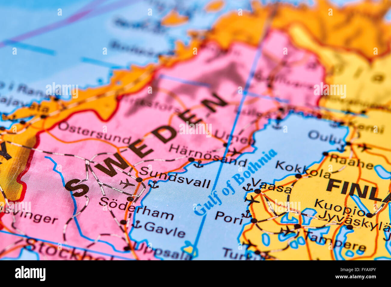 Sweden, Country in Europe on the World Map Stock Photo: 102888099 ...