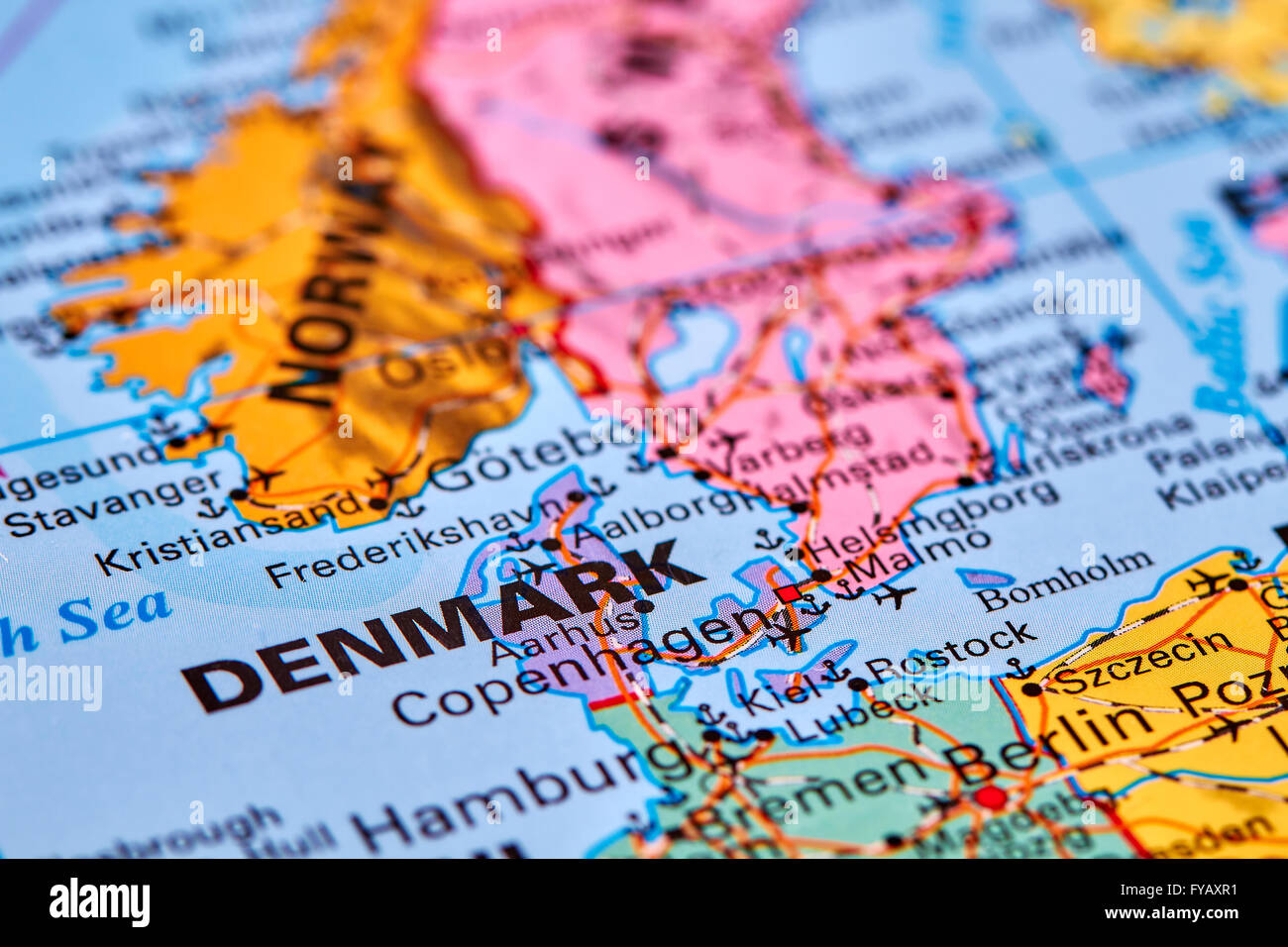 denmark country in europe on the world map