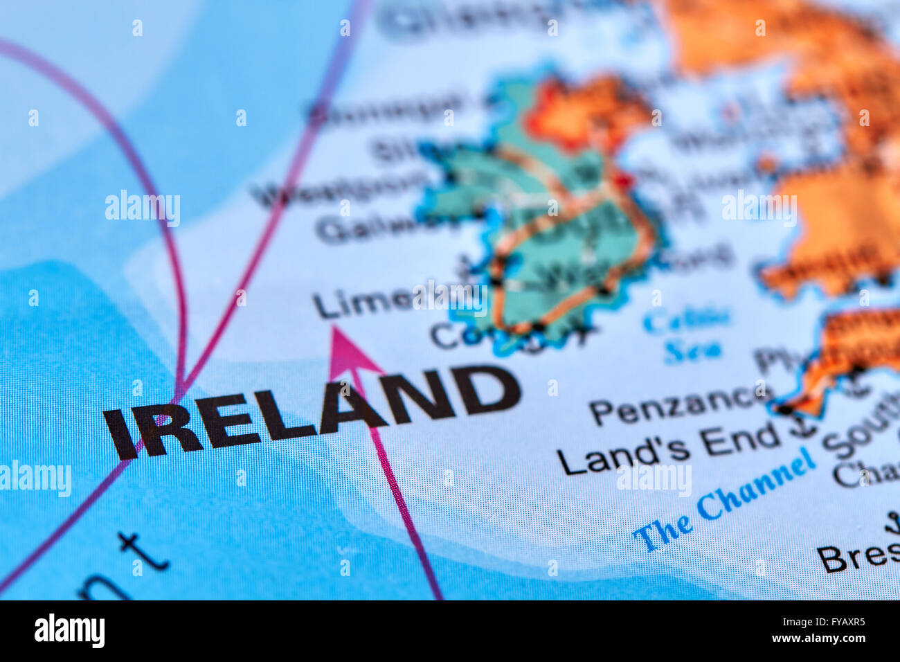 Country Of Ireland Map.Ireland Country In Europe On The World Map Stock Photo 102888105