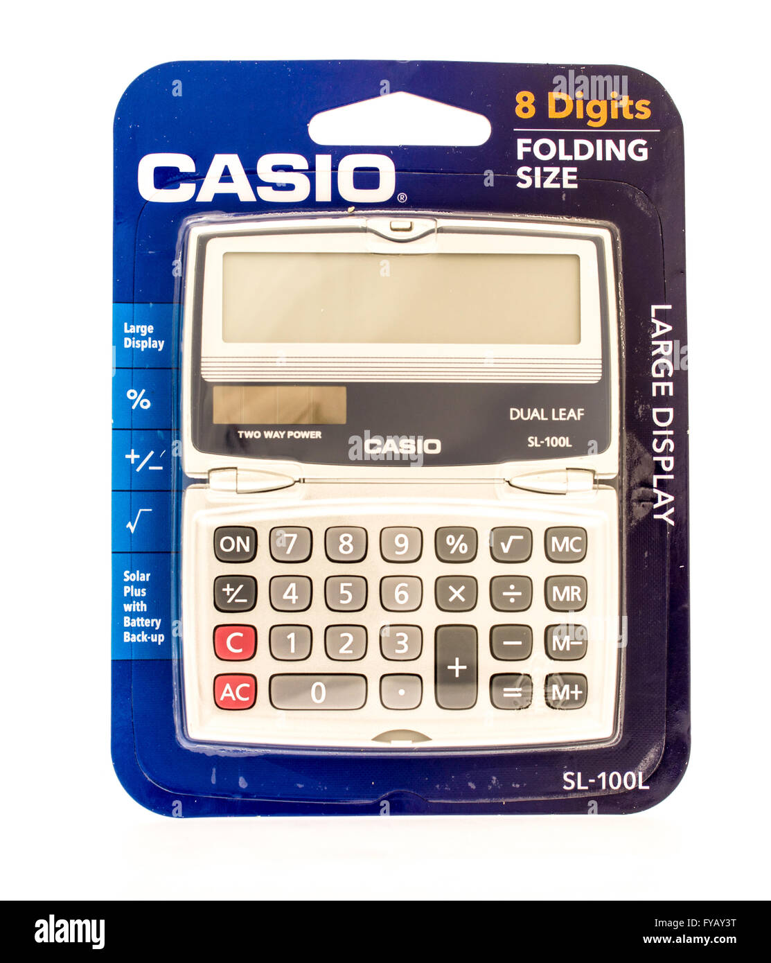 Winneconne, WI - 9 Sept 2015:  Package of a Casio calculatar - Stock Image