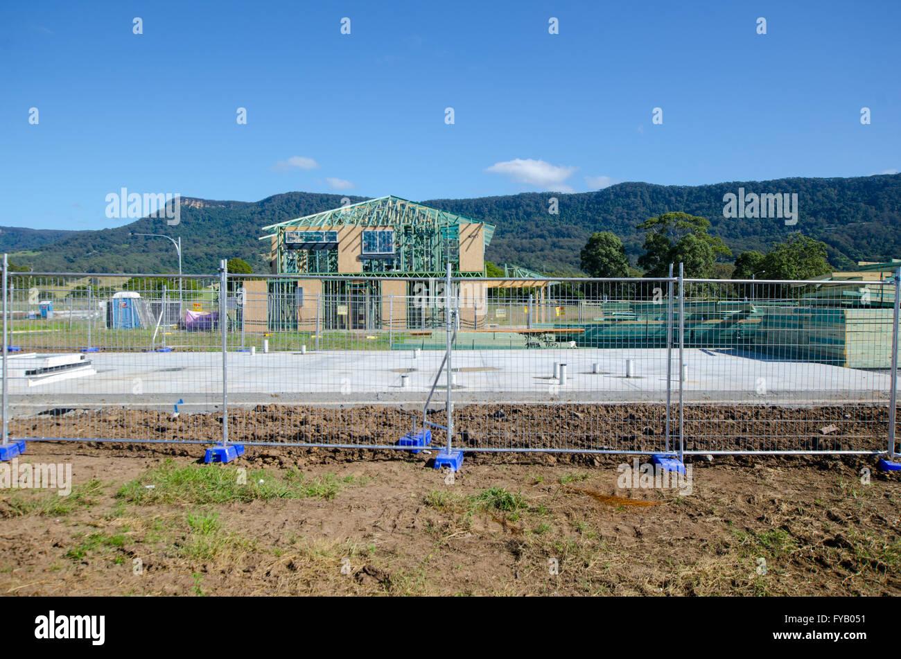 New house construction in Australia Stock Photo