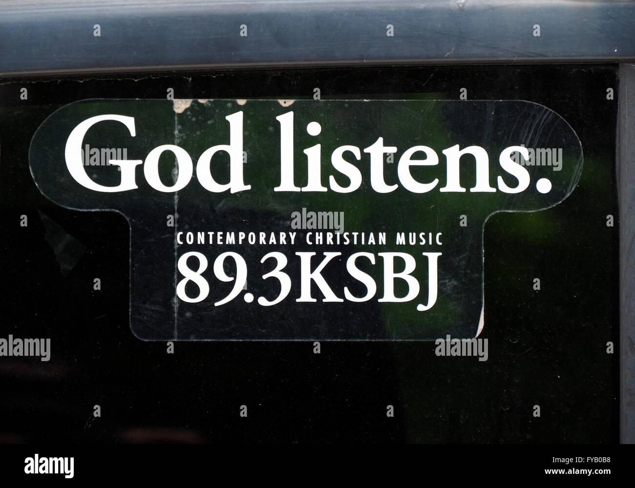 God Listens - Stock Image
