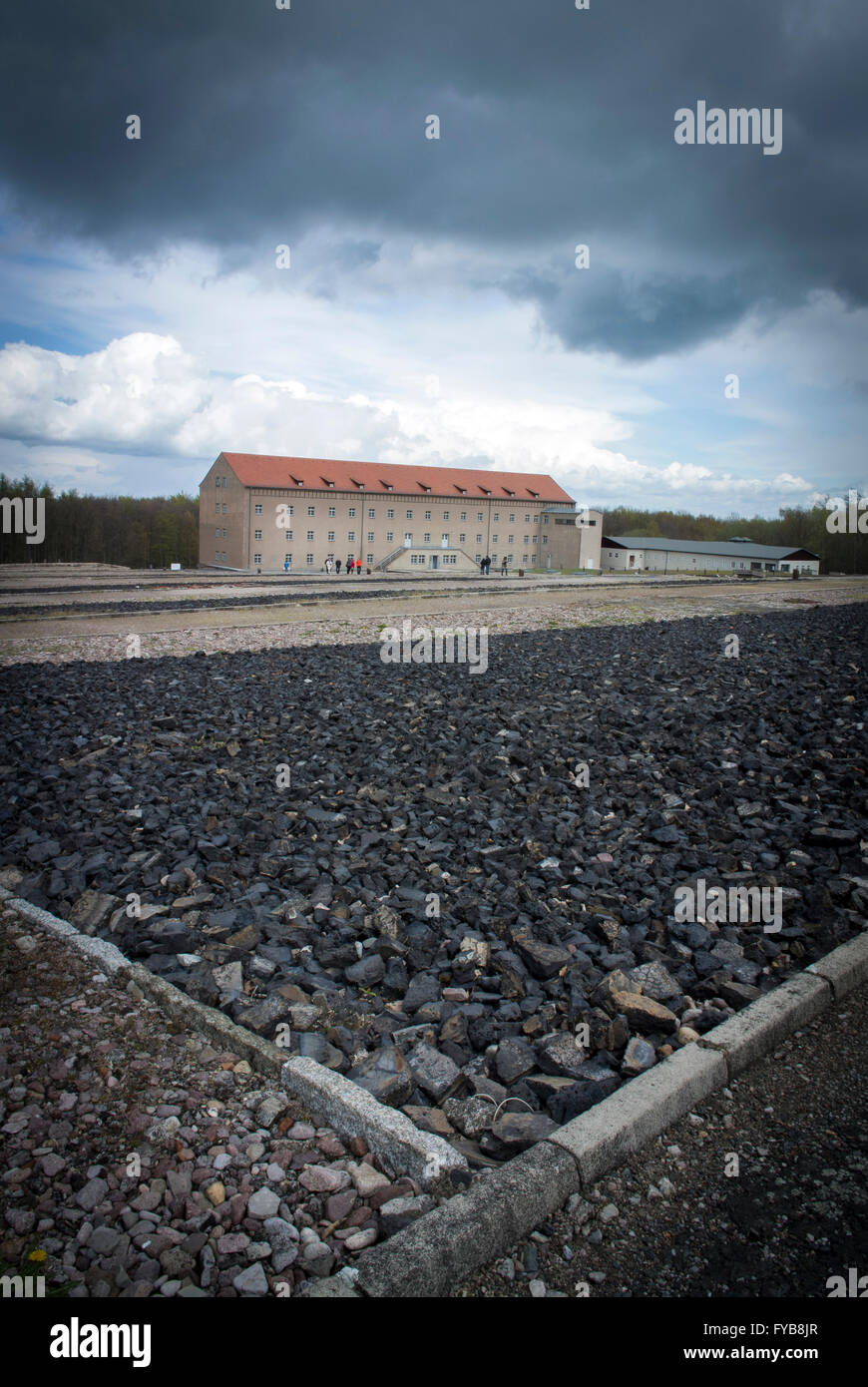 the depot where prisoners personal effects and clothing were held seen from the muster ground at buchenwald concentration camp - Muster Depot