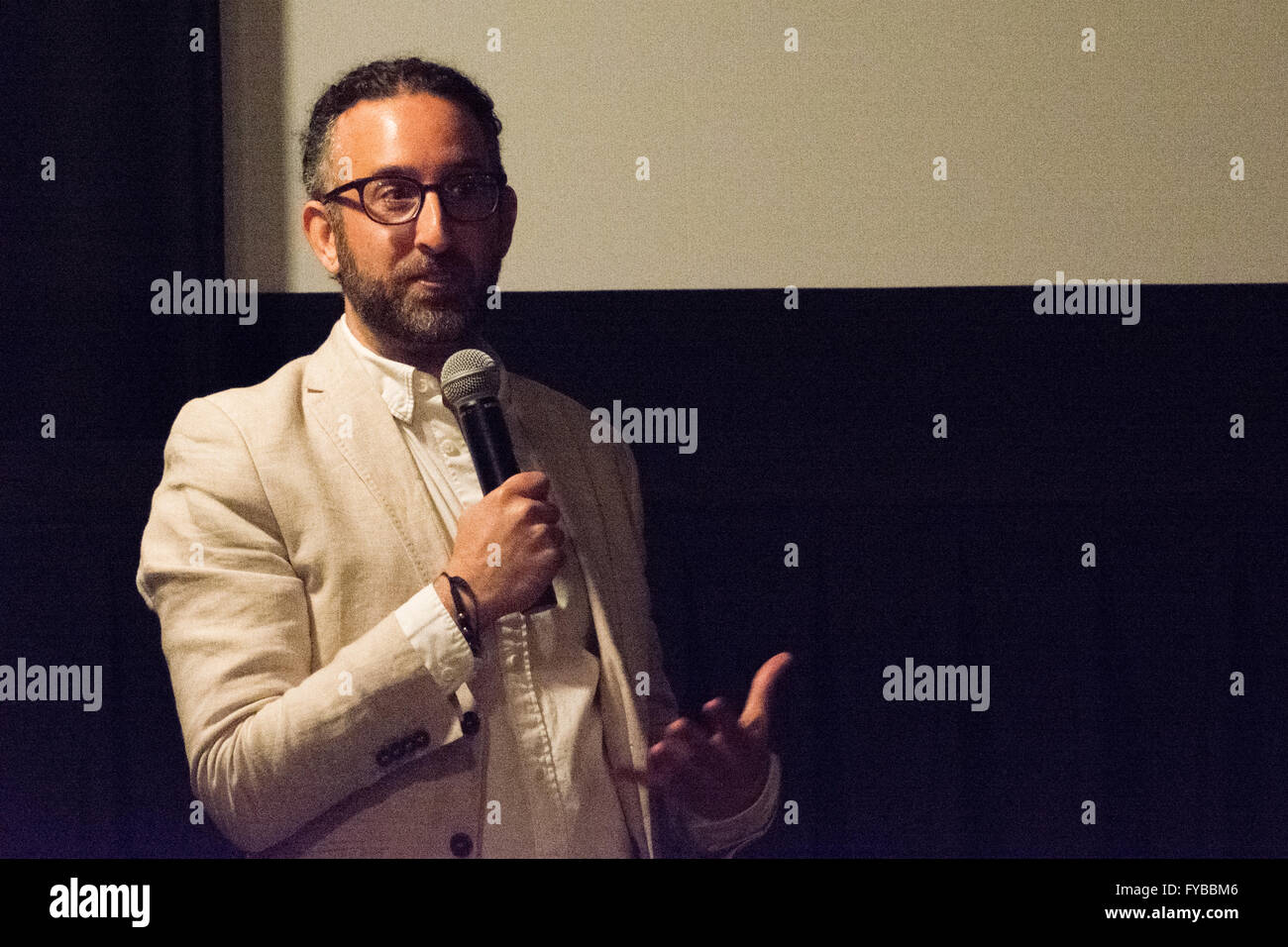 New York, USA. 23rd April 2016. Jeff L. Lieberman, the film's writer and director, speaks about the film. 'The - Stock Image