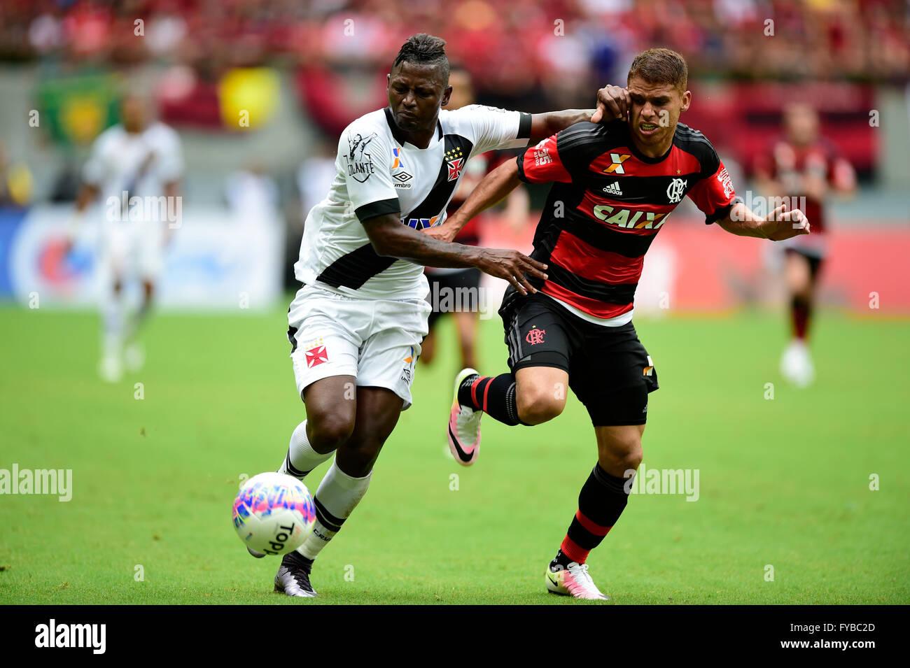MANAUS, AM - 04/24/2016: FLAMINGO X VASCO - ball match during Flamengo x Vasco held at the Arena da Amaz?nia. (Photo: - Stock Image