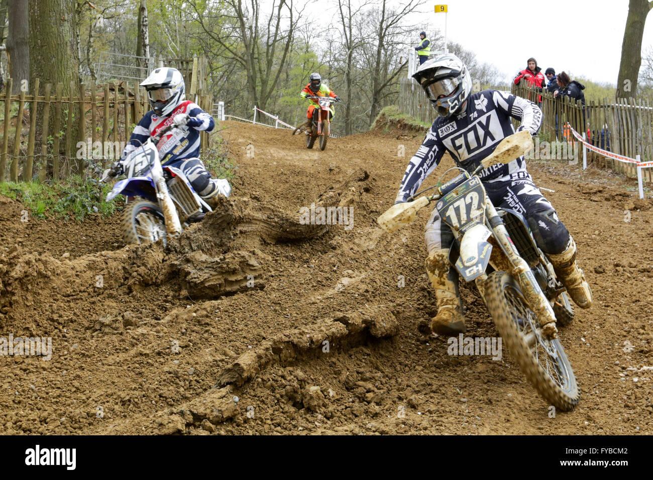 Kent, UK. 24th April, 2016. Maxxis Motocross Championship Round 2 at Canada Heights April 24th Credit:  Jason Richardson/Alamy - Stock Image