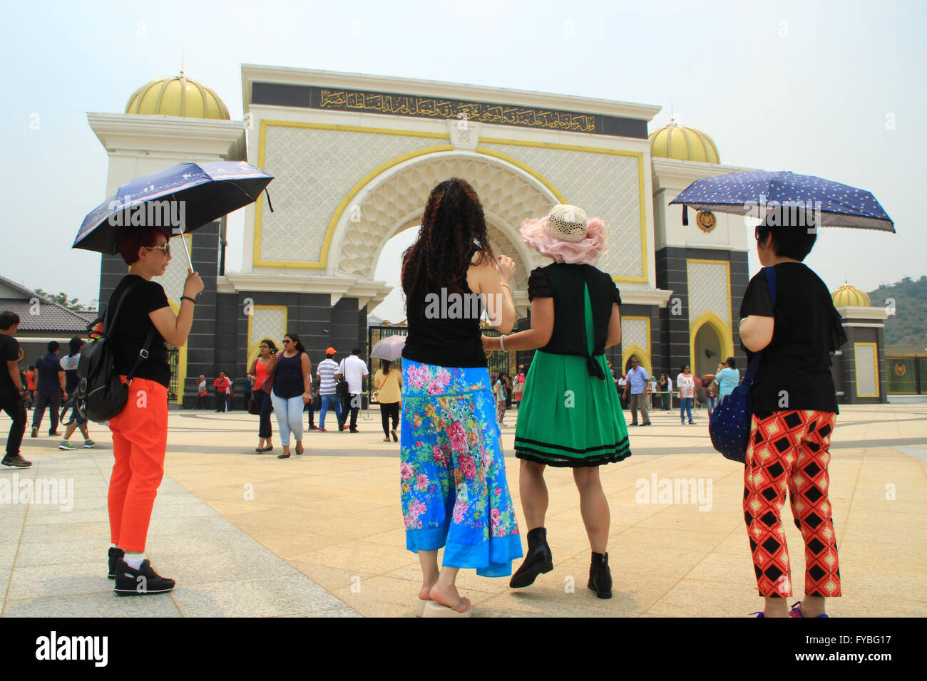 Kuala Lumpur, Malaysia. 23rd Apr, 2016. Malaysia national palace is one of the tourist destinations in Malaysia. - Stock Image
