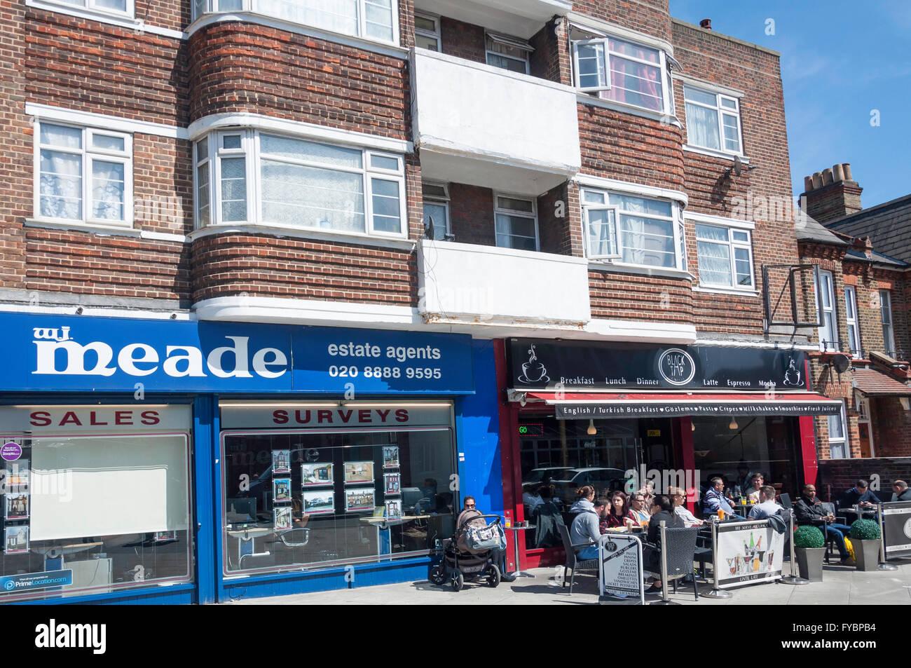 Black Tap Cafe, Gladstone Avenue, Wood Green, London Borough of Haringey, Greater London, England, United Kingdom - Stock Image