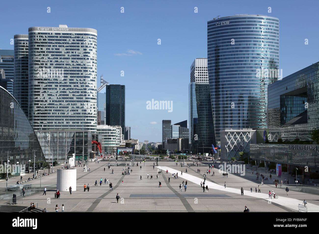 Cityscape of La Défense Paris major business district in Paris - Stock Image