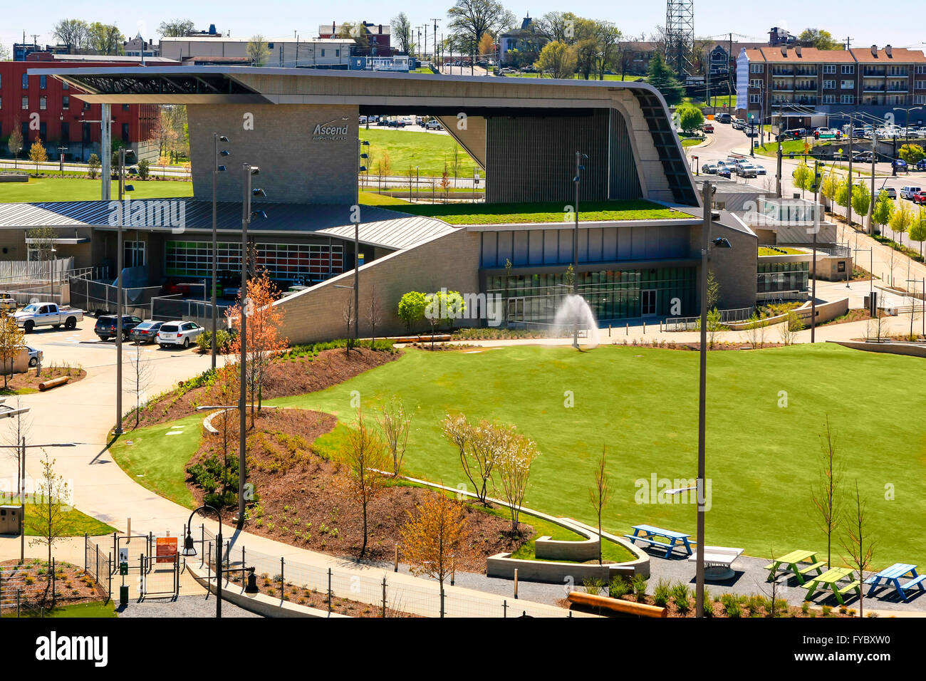 The new Ascend Amphitheater on the west side of Nashville, Tennessee - Stock Image
