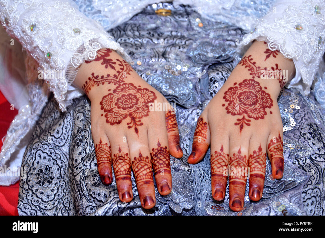 Henna On Hands Of Indonesian Wedding Bride Stock Photo 102910855