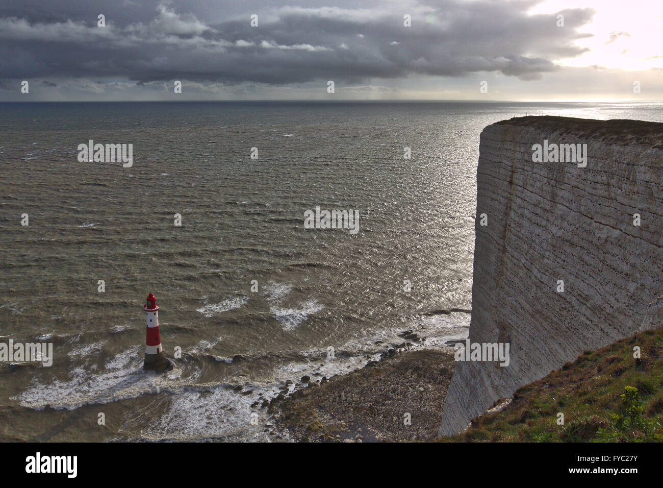 UK, East Sussex, Eastbourne,  Beachy Head - Stock Image