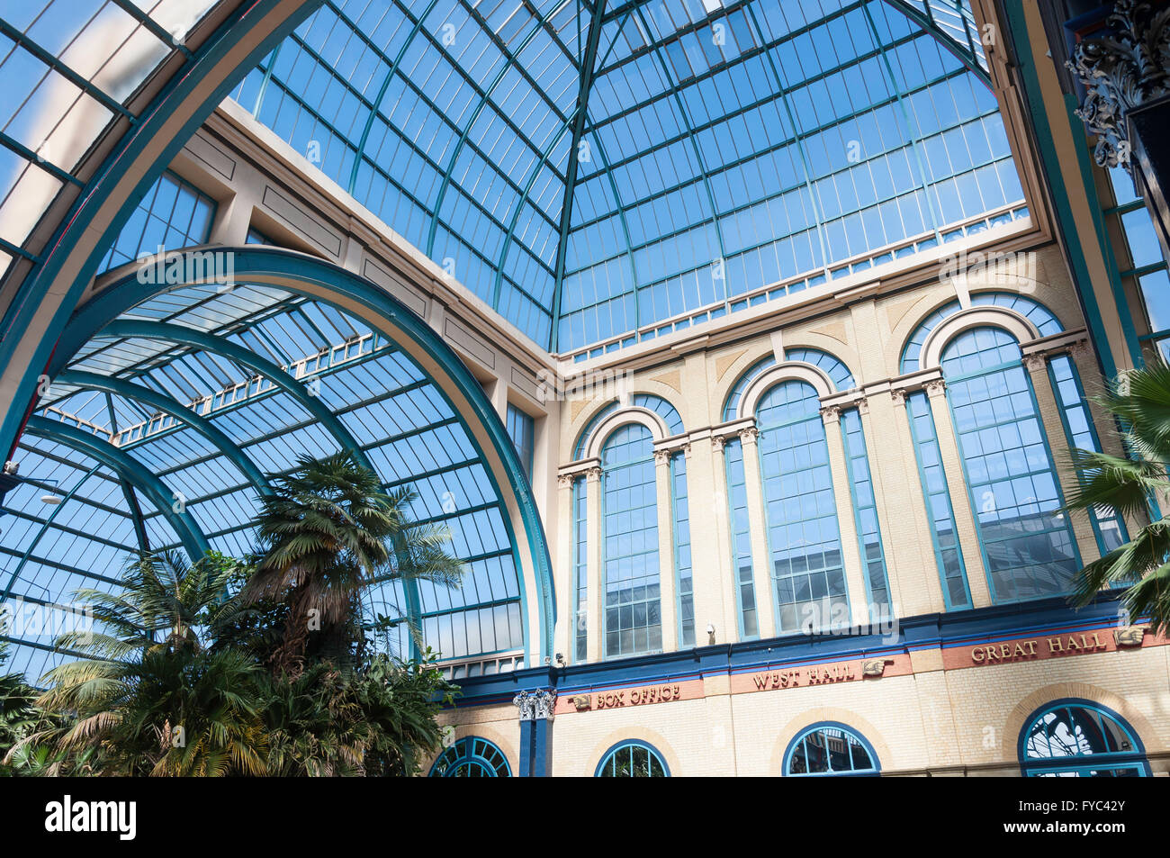 Palm Court at Alexandra Palace, London Borough of Haringey, Greater London, England, United Kingdom - Stock Image