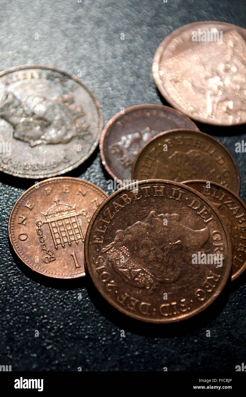 A Pile of Pennies - Stock Image