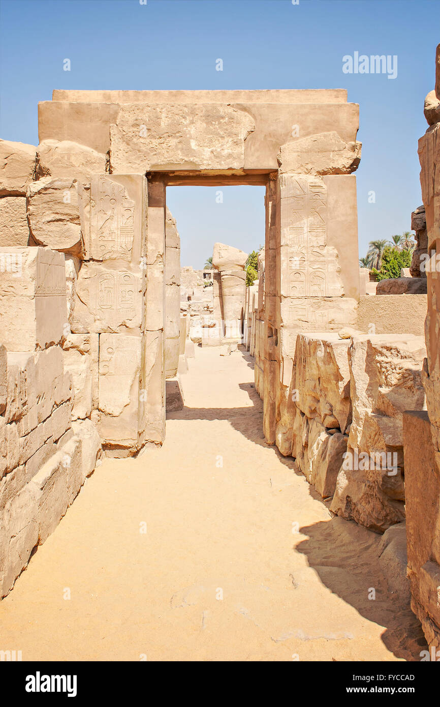Image of ruins at the temple of Karnak. Luxor, Egypt. - Stock Image