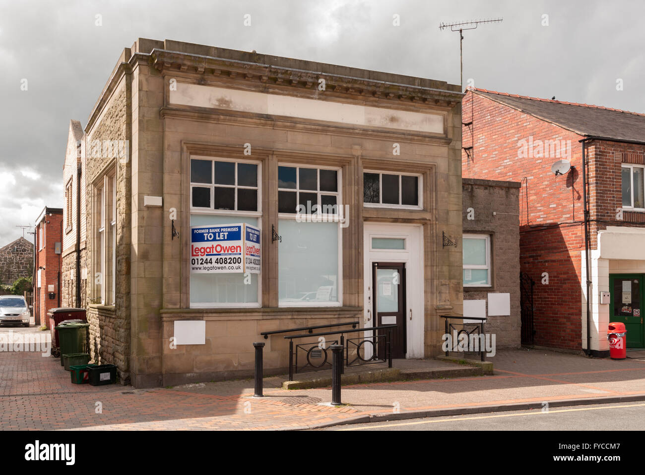 Former HSBC branch in Chirk North Wales opened in 1910 as a Midland Bank one of the last two rural bank branches - Stock Image