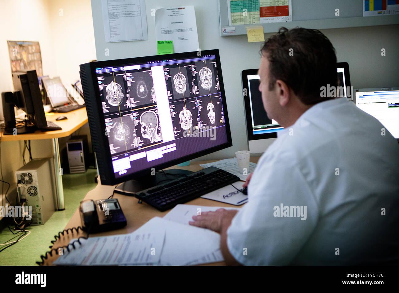 MRI EXAMINATION - Stock Image