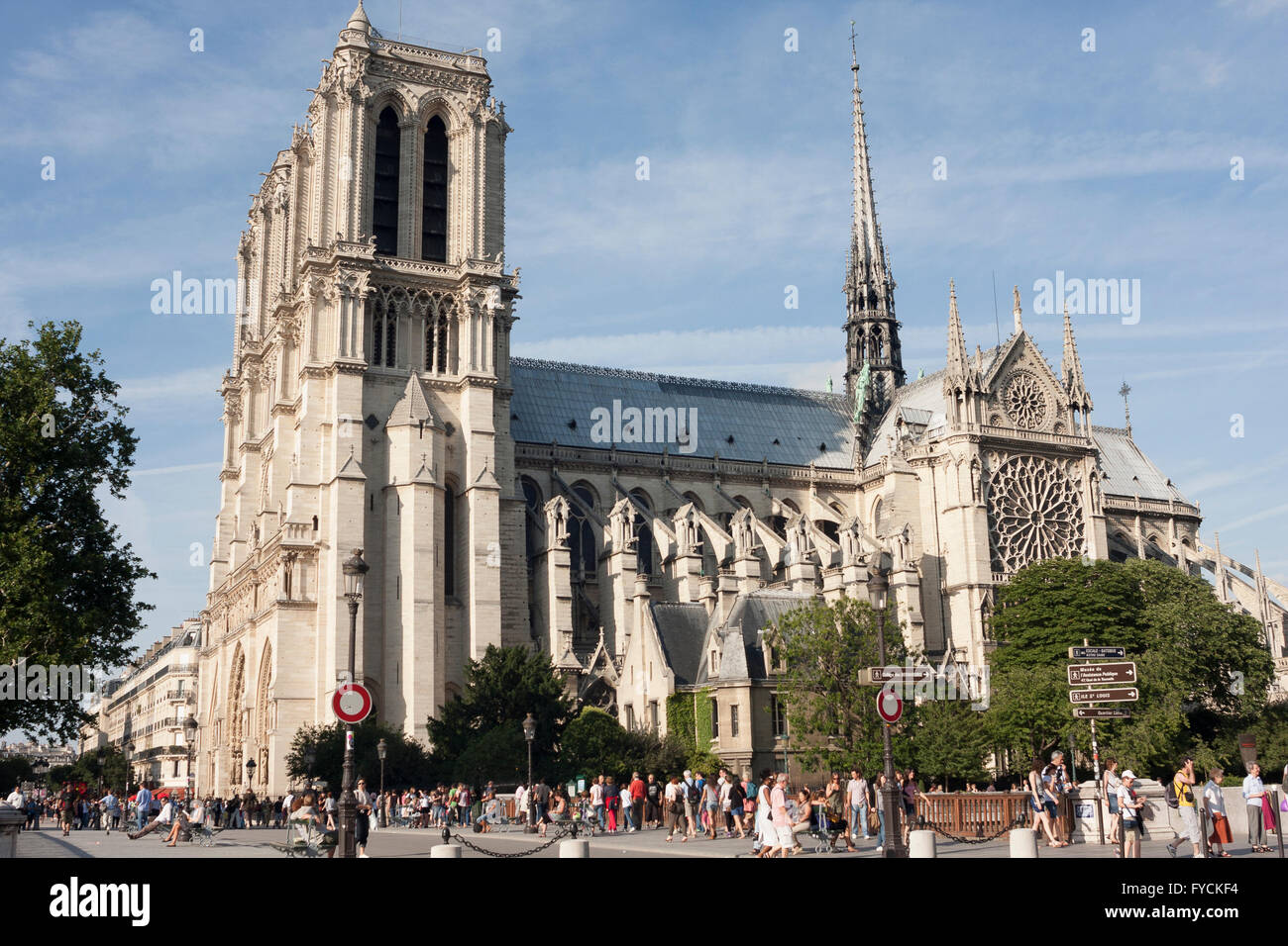 A remarkable building in Paris. France in a sunny day - Stock Image